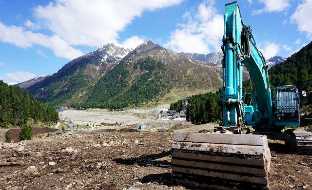 Bauarbeiten im Tiroler Längental 2020